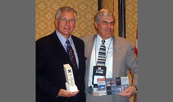 John Sekora accepts the TCAA's 2007 Tile Project of the Year award.